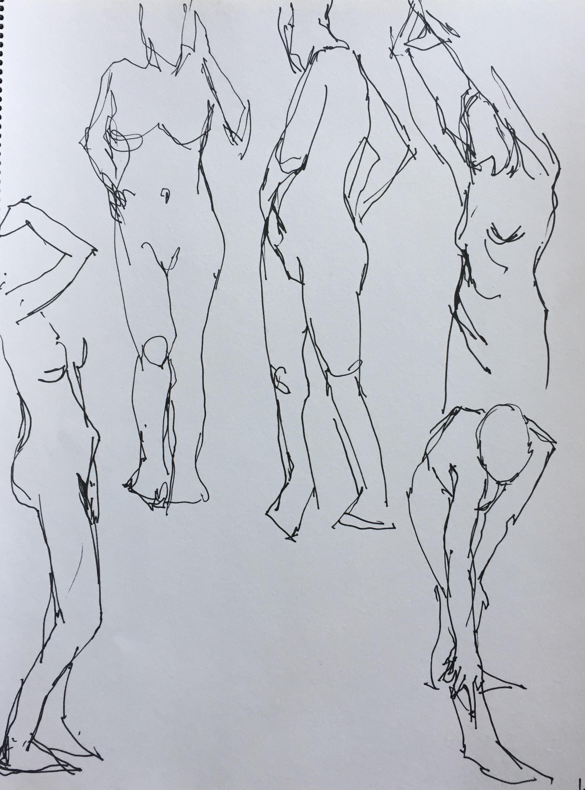 life drawing - One-minute poses