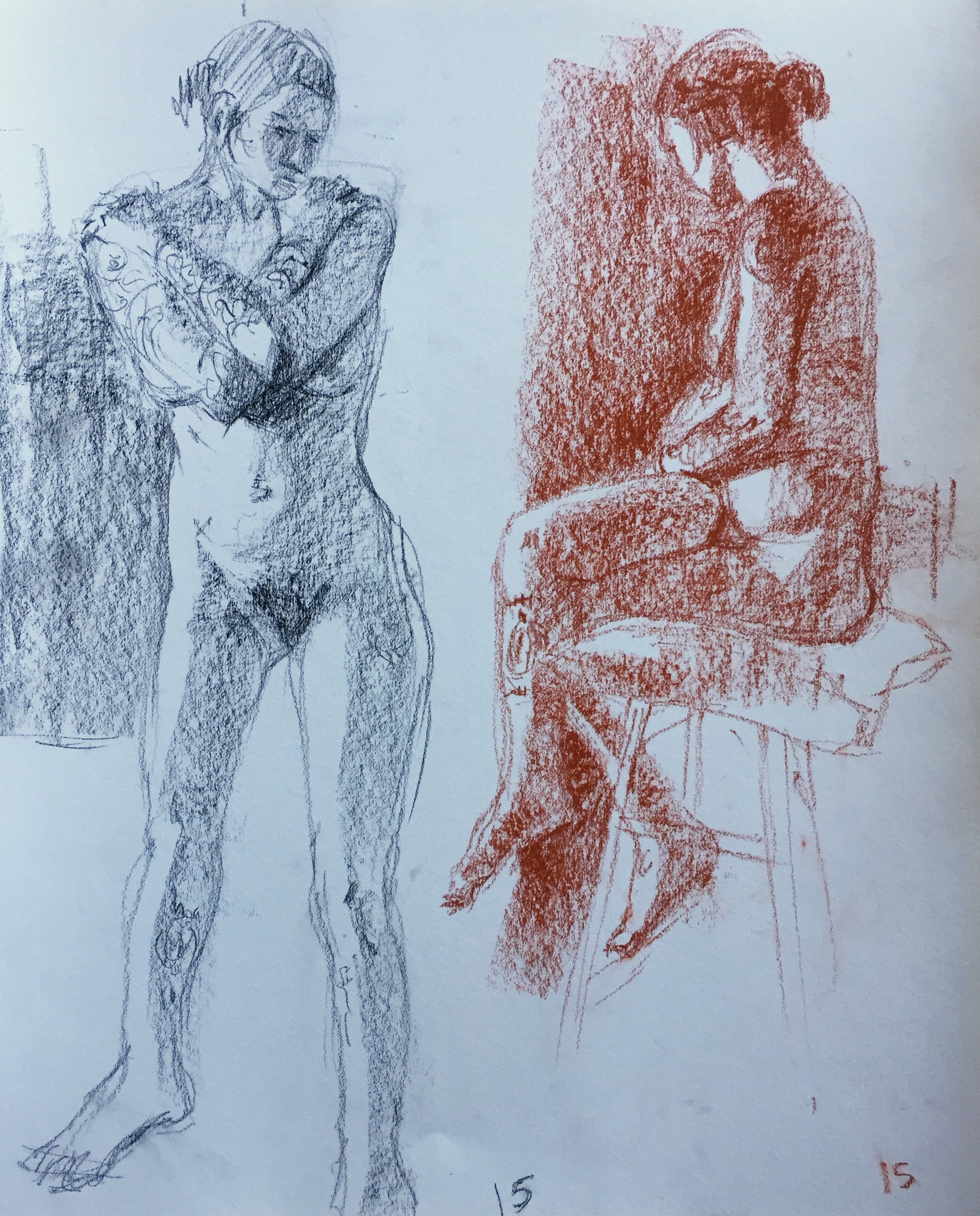 Life drawing: 15-minute poses