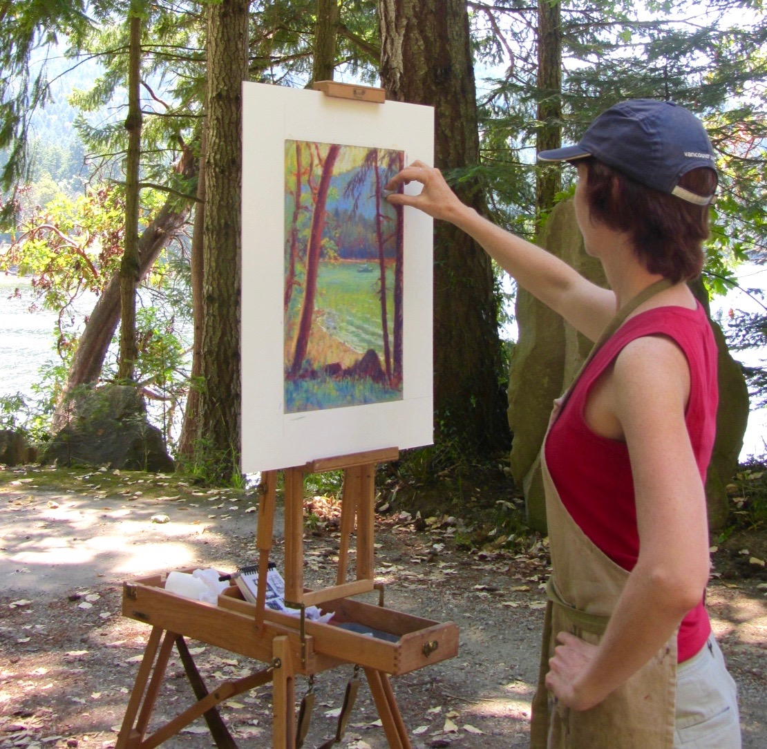 Gail painting en plein air