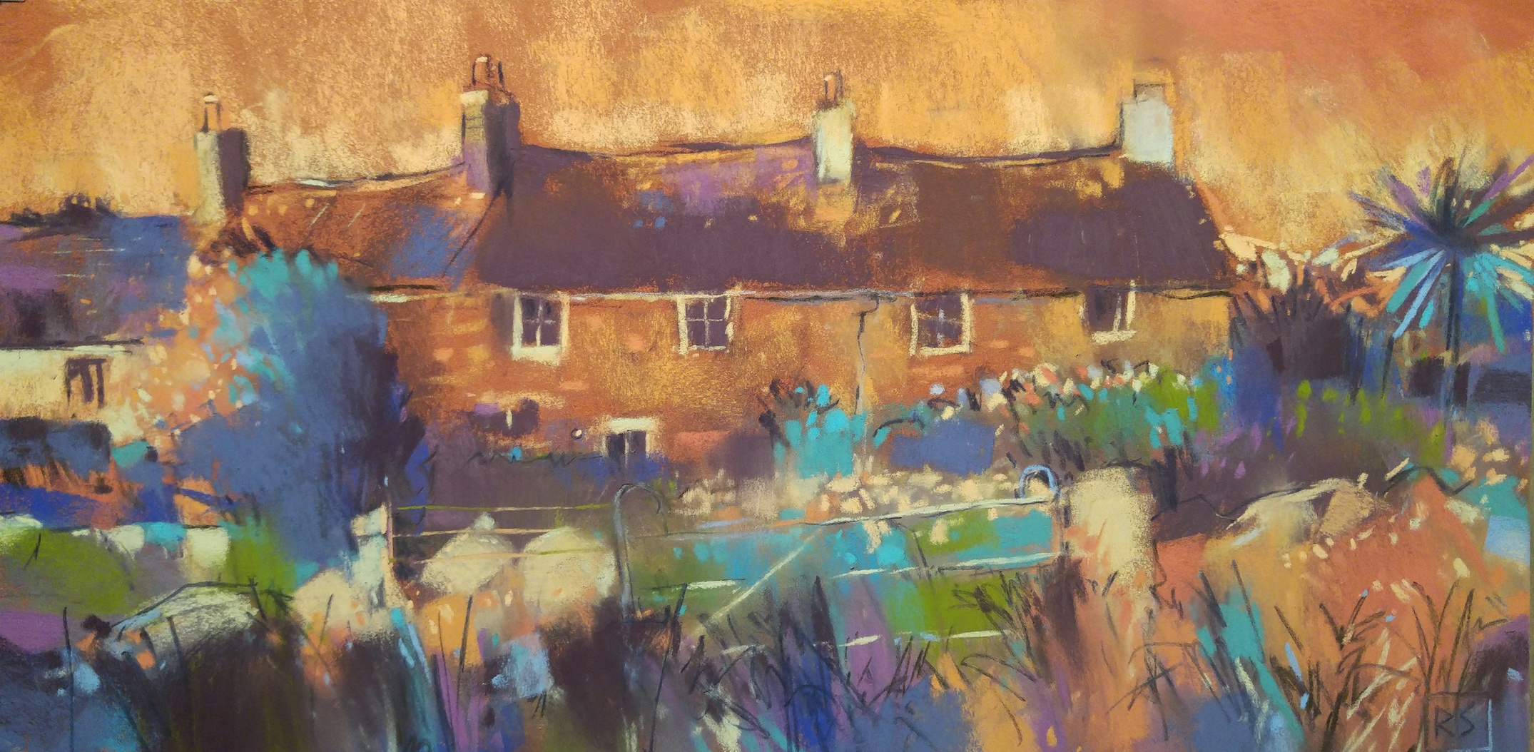 "Richard Suckling, ""Zennor Magic,"" pastel on Sennelier LaCarte, 19 ¾ x 9 ¾ in. A recent Cornish pastel based on a location sketch. Looser than my usual studio style benefiting from my plein air experience."