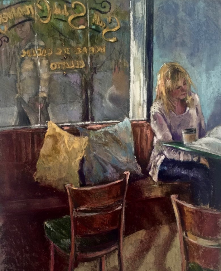 "January's Noteworthy Pastels: Jeri Greenberg, ""Inside/Outside,"" pastel, 14 x 9 1/2 in"