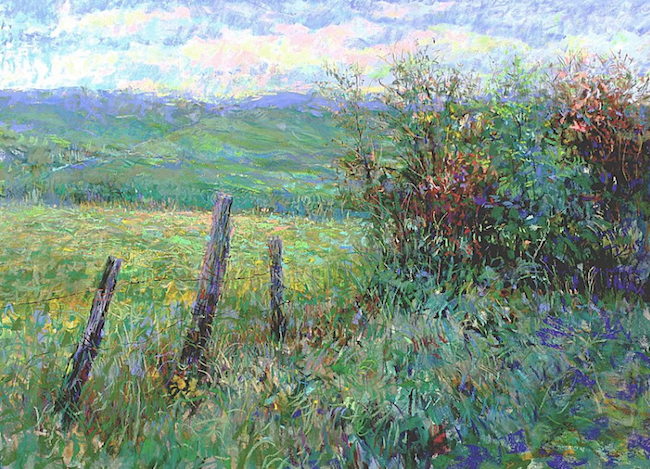 "January's Noteworthy Pastels: Tom Bailey, ""Peace in the Valley,"" pastel on multimedia board, 18 x 24 in"