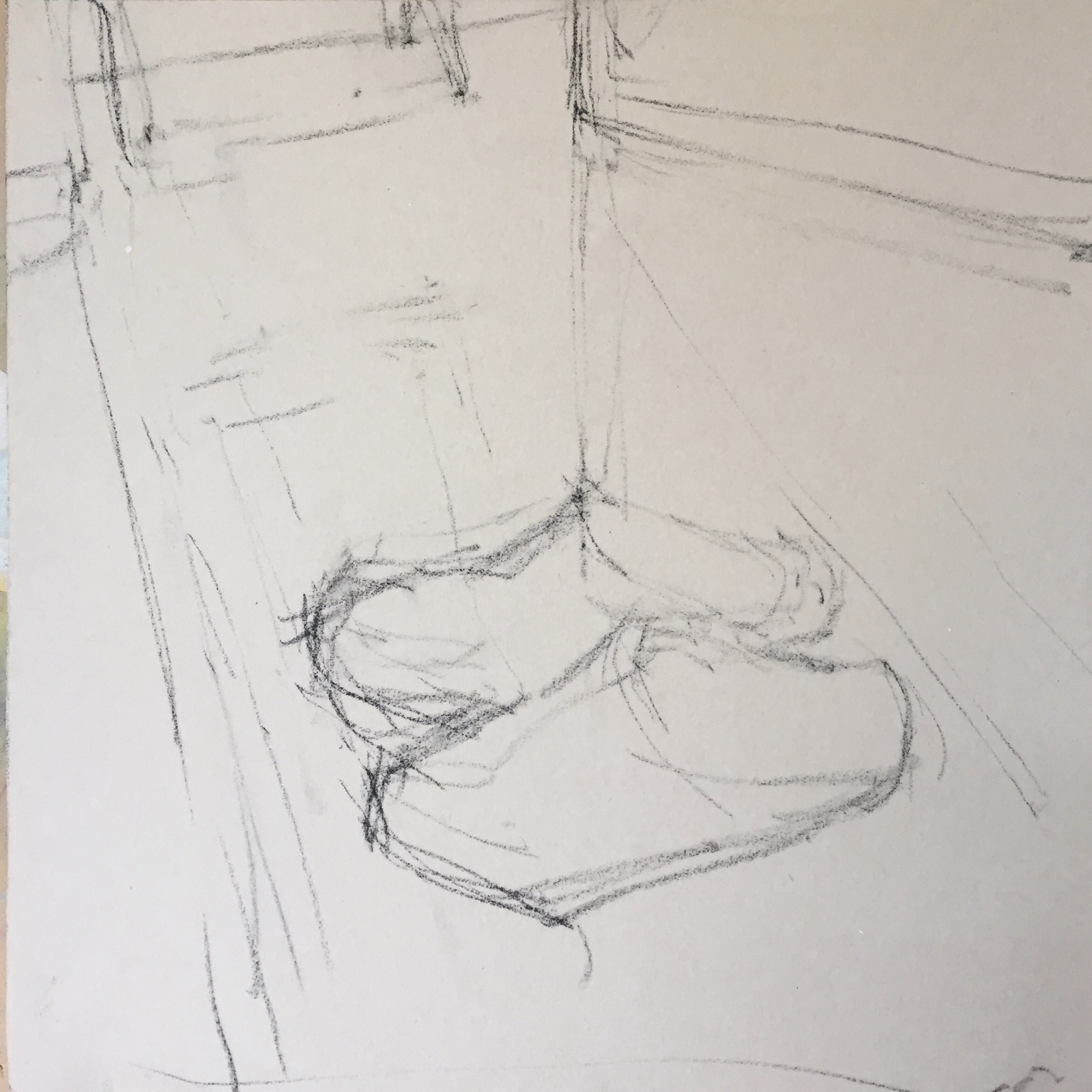 Breaking the Rules: Design drawn up with vine charcoal on UART 320 grade.