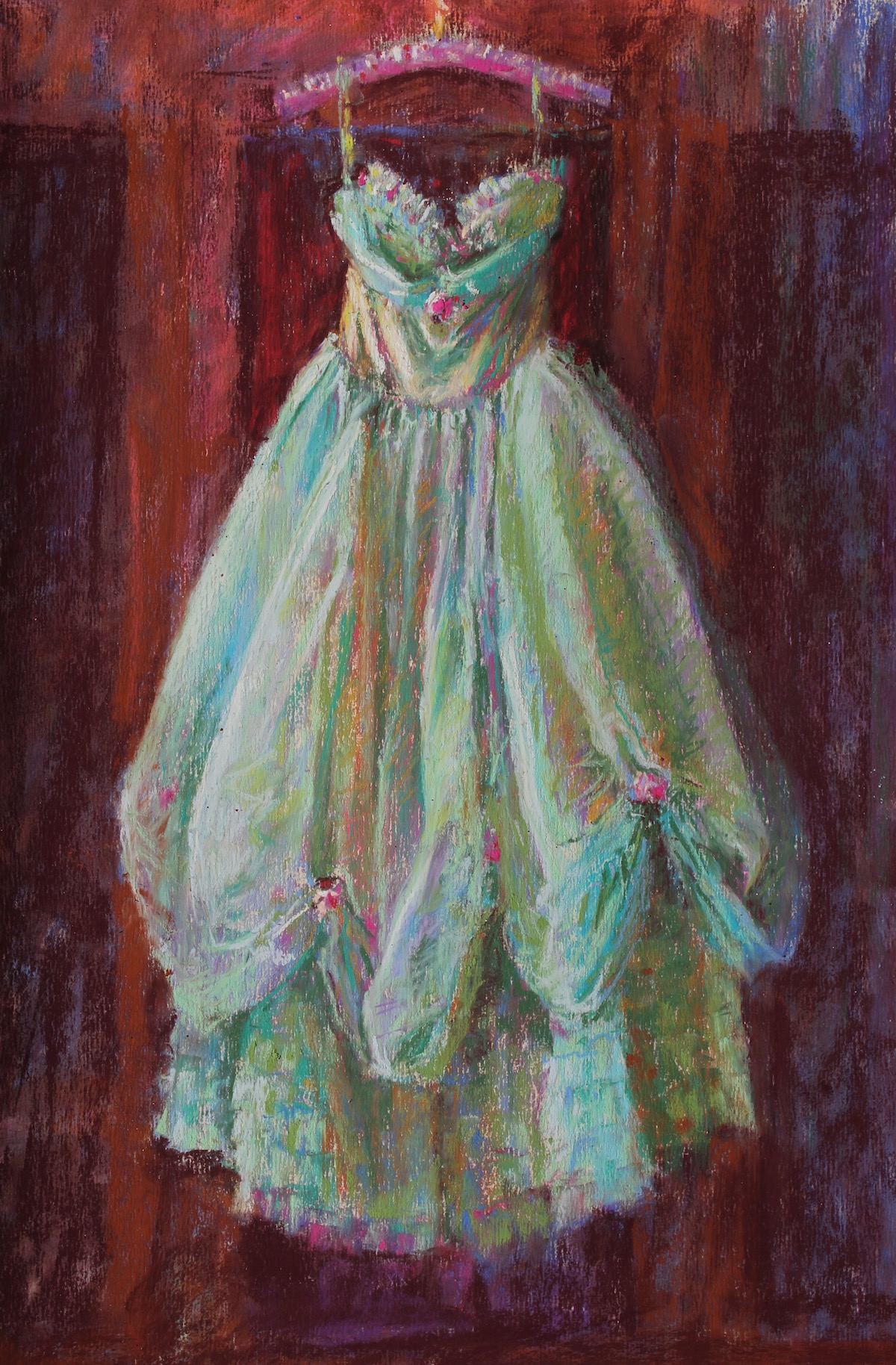 "PSA Feature Artist: Gail Sibley, ""Remembering Those Days,"" pastels on URT paper, 15 x 10 in"