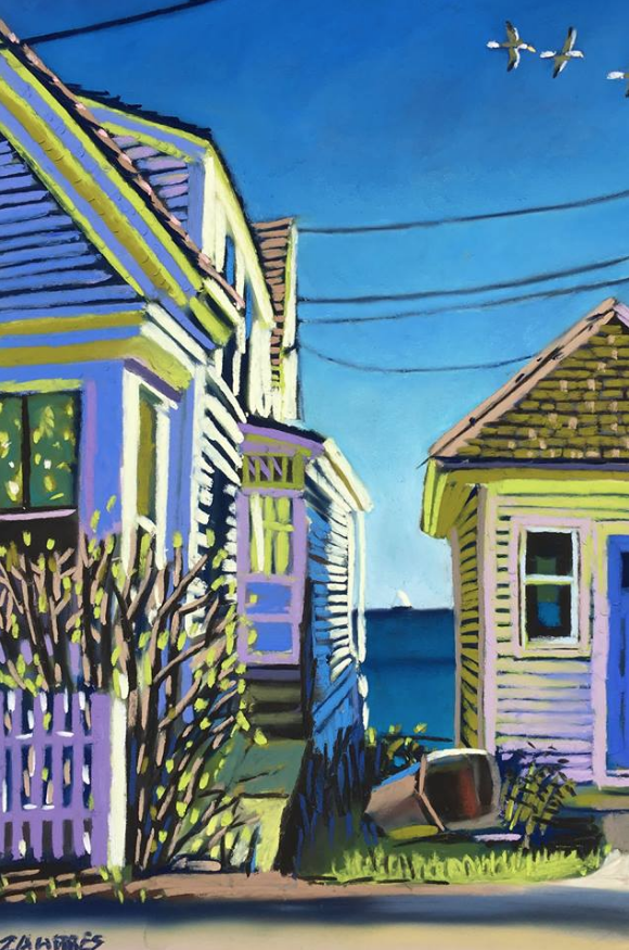 "March's Notable Pastels: Wade Zahares, ""A House By The Sea,"" pastel, 17 x 11 in"
