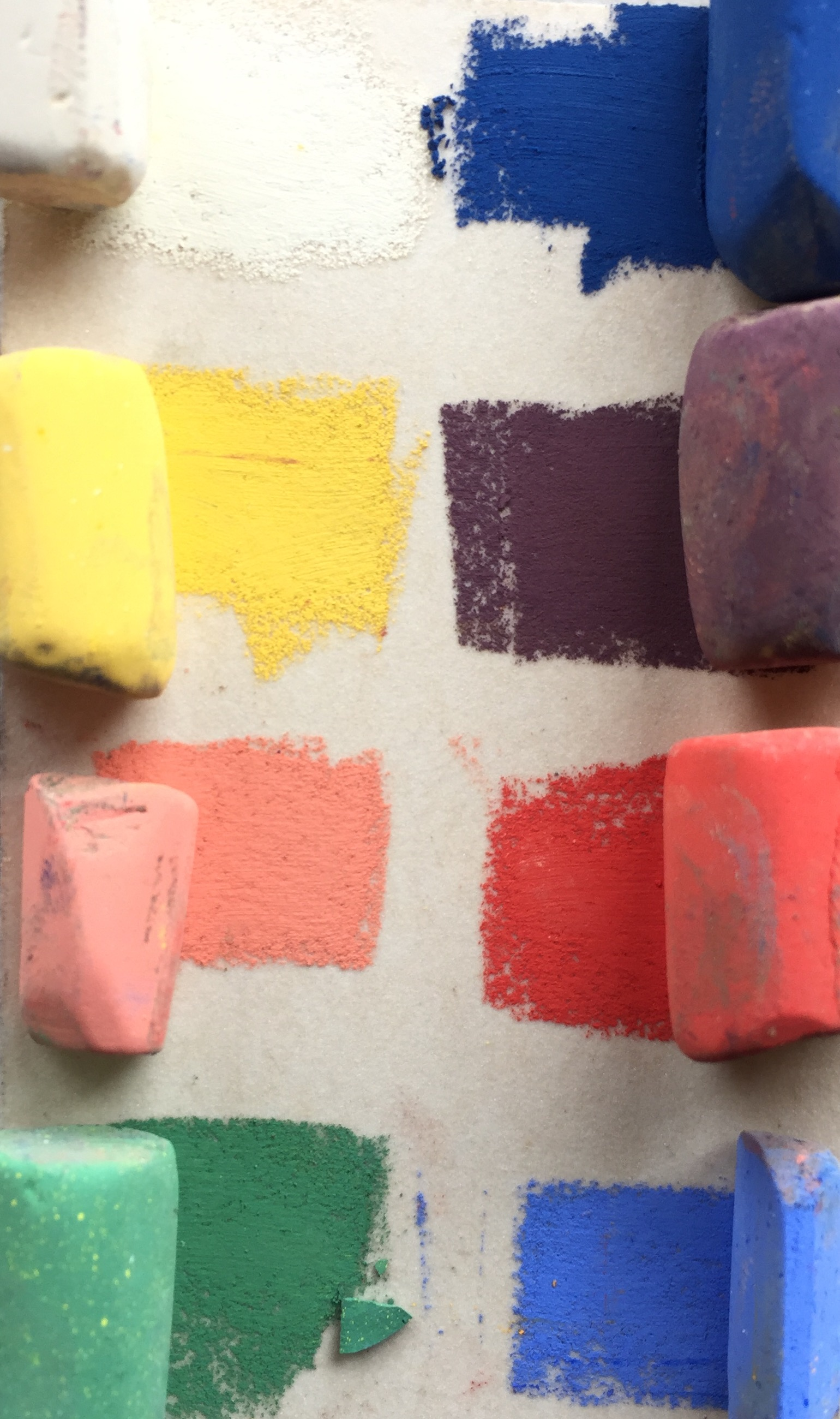 Lack of colour choices: Eight pastels from Unison starter set