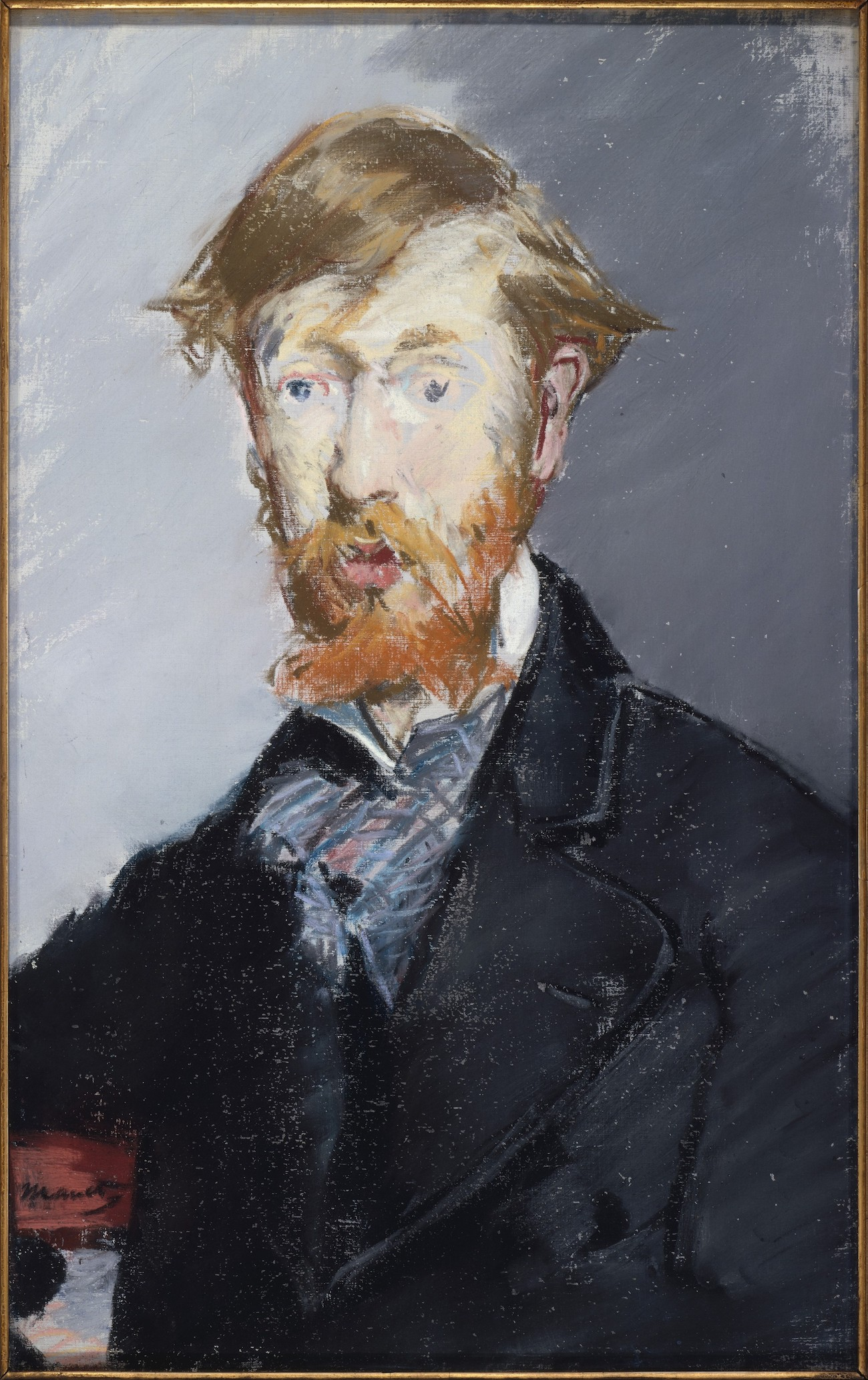 "Édouard Manet, ""George Moore,"" 1879, pastel on canvas, 21 3/4 x 13 7/8 (55.2 x 35.2 cm), Metropolitan Museum of Art, New York, USA"