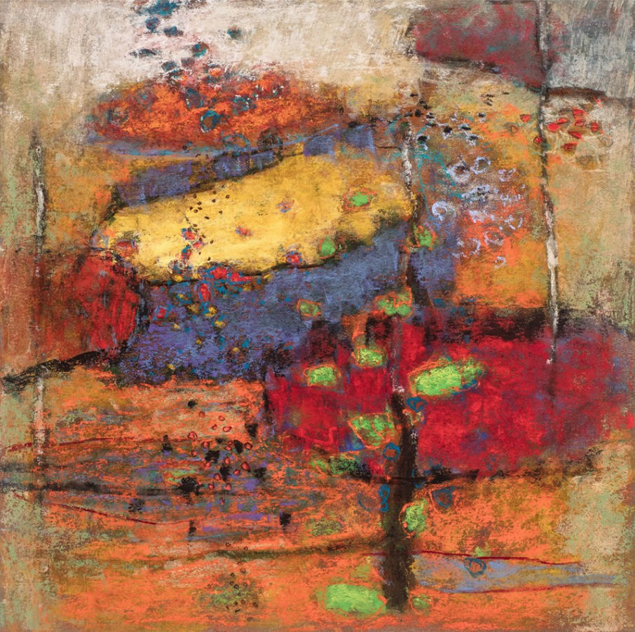 "April's Amazing Pastels: Rick Stevens, ""Distinct From Logic,"" pastel on paper, 14 x 14 in"