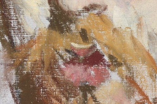 "Édouard Manet, ""George Moore,"" 1879, pastel on canvas, 21 3/4 x 13 7/8 (55.2 x 35.2 cm), Metropolitan Museum of Art, New York, USA - detail. That mouth, pursed as if about to express some thought, some opinion, some off-hand remark. Three reds - light (the highlight), middle (the main part of the lips), and dark (the underside of the top lip and possible part of the interior of the mouth as the lips begin to part). So little to say sooooo much!"