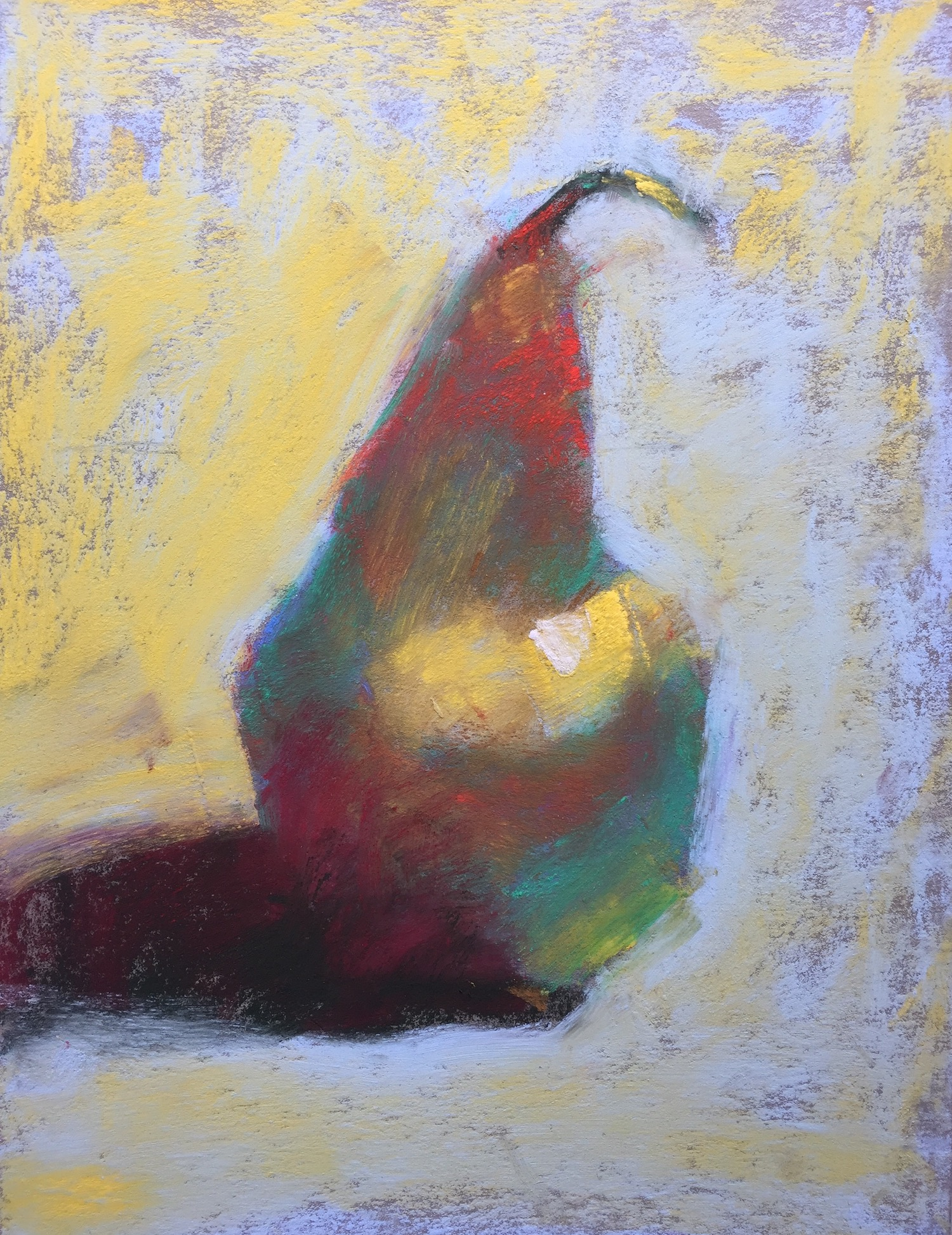 "Gail Sibley, ""Single Pear,"" (workshop demo), Sennelier pastels on Pastel Premier Italian Clay paper, 8 x 6 in"