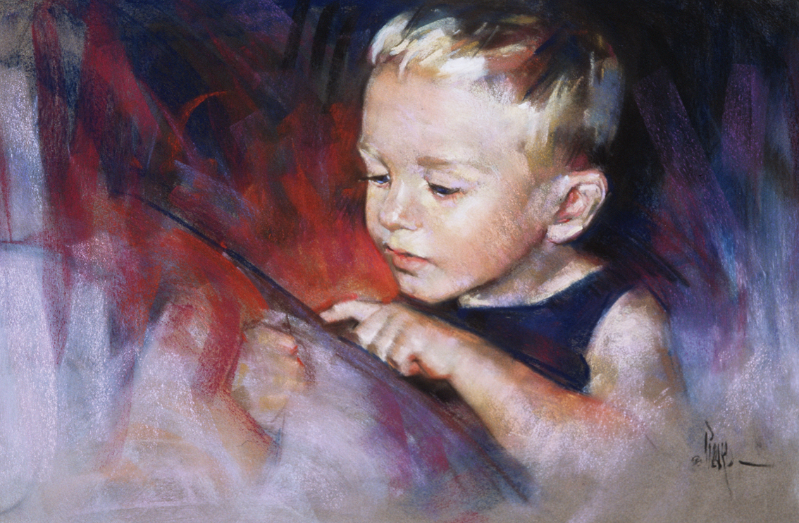 "Artist interview Videos: Alain Picard, ""Johan,"" pastel,12 1/2 x 19 in"