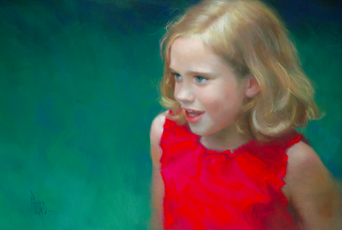 "Artist Interview Videos: Alain Picard, ""Katarina,"" pastel, 15 x 20 in"