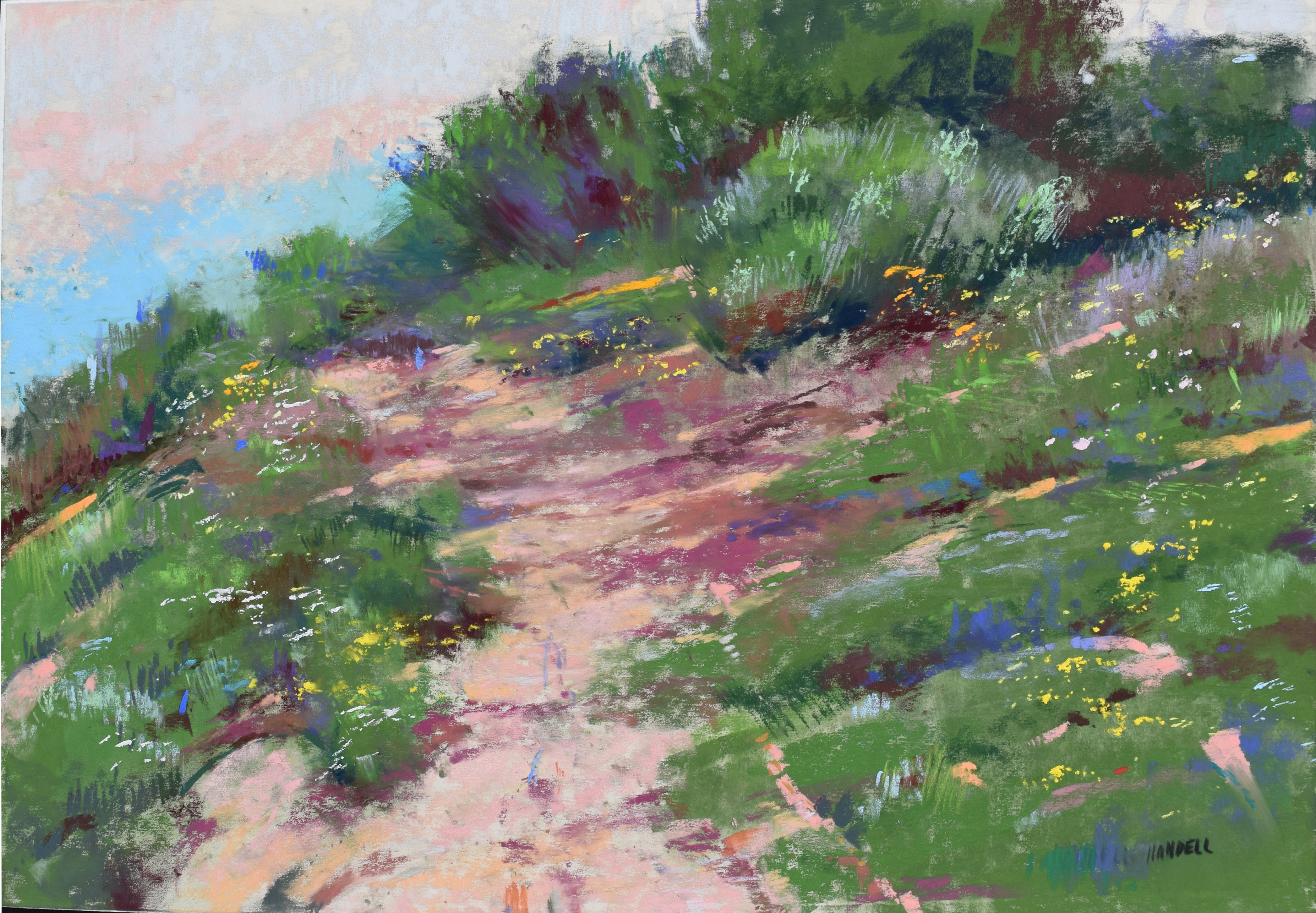 "Artist Interview Videos: Albert Handell, ""At Carmel Beach,"" pastel, 12 x 18 in"