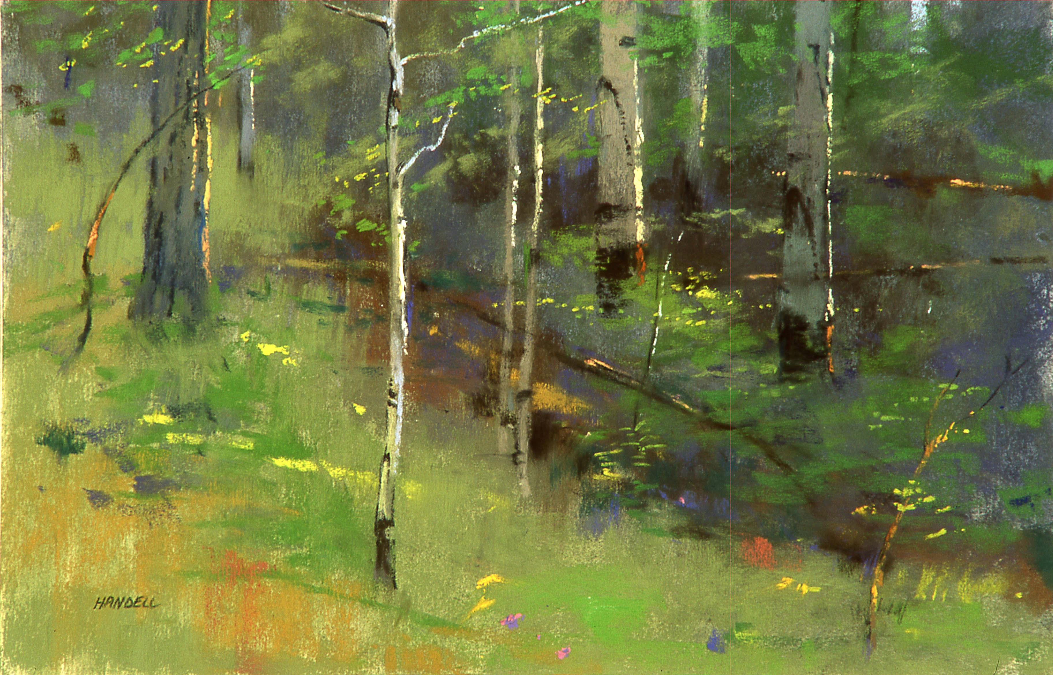 "Artist Interview Videos: Albert Handell, ""Woodland Light,"" pastel, 16 x 20 in"
