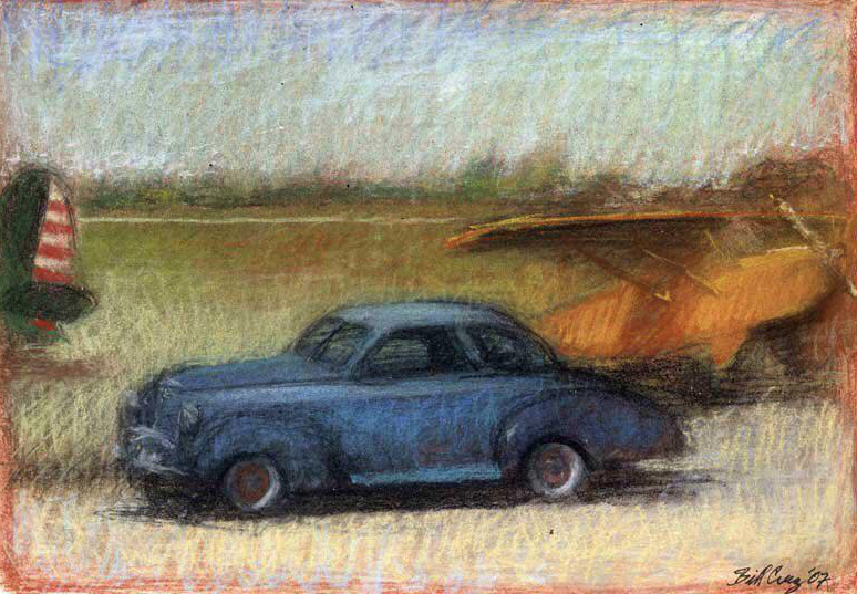 "Artist Interview Videos: Bill Creevy, ""Airport Coupe,"" pastel, 7 x 10 in"