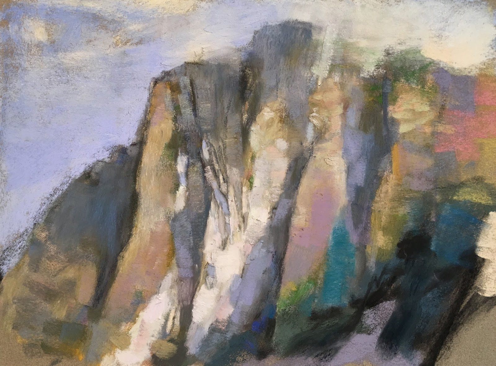 "Artist Interview videos: Casey Klahn, ""North Central Cascades,"" pastel and dry ground, 9 x 12 in"