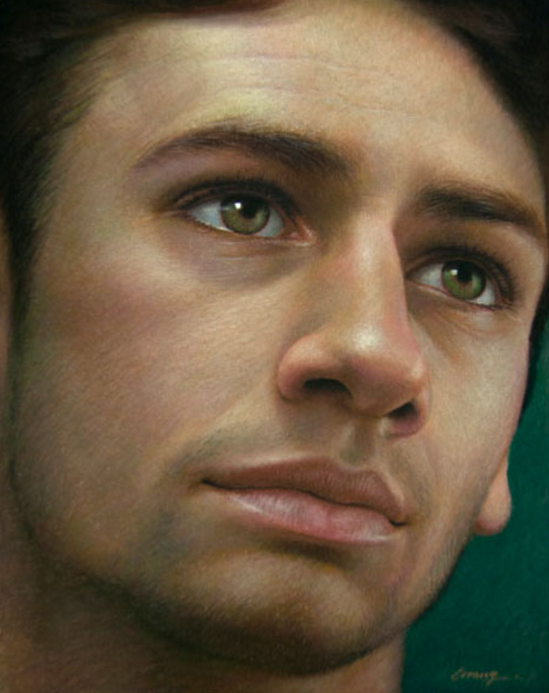 "Artist interview videos: Cuong Nguyen, ""Portrait of a Young Italian,"" pastel on sanded paper, 10 x 8 in"