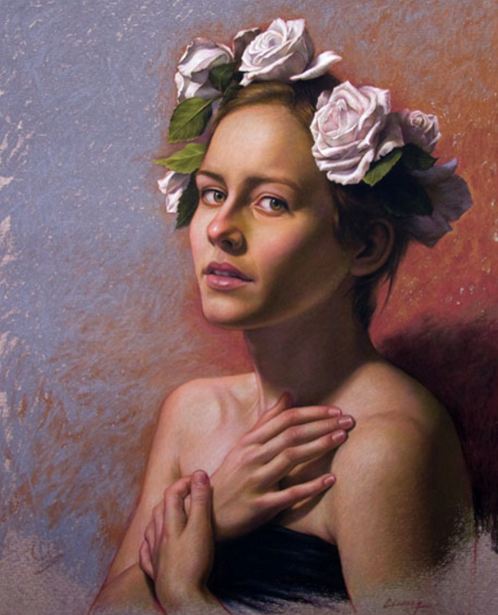 "Artist Interview videos: Cuong Nguyen, ""Spring,"" pastel on sanded paper, 20 x 18 in"