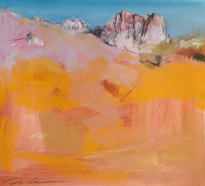 "Artist interview videos: Dawn Emerson, ""Amber Glow,"" pastel on paper, 16 x 16 in"