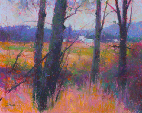"Artist interview videos: Doug Dawson, ""Battleground,"" pastel, 15 1/2 x 19 1/2 in"