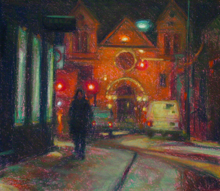 "Artist Interview videos: Doug Dawson, ""Heading Home,"" pastel, 14 x 16 in"