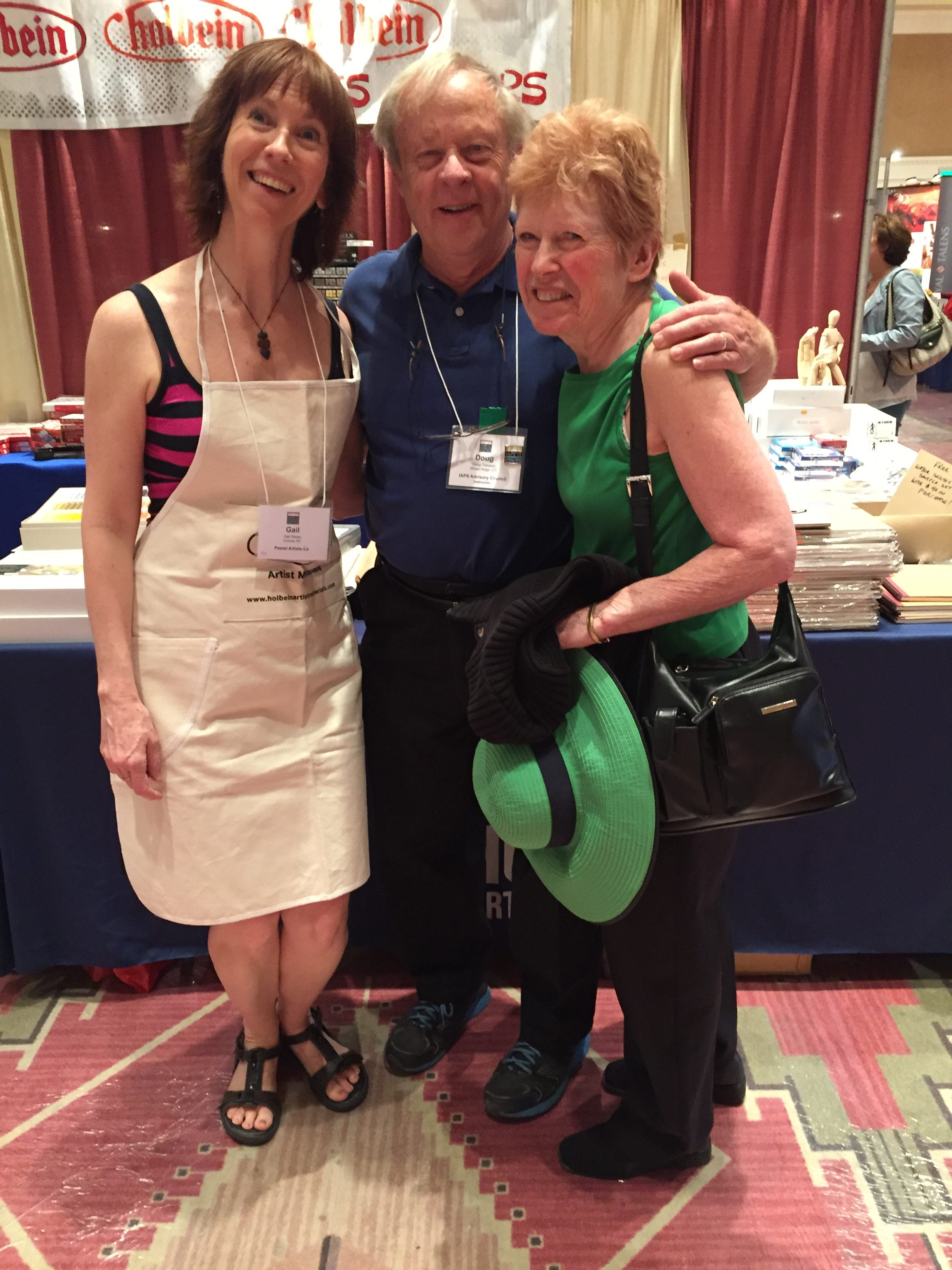 Artist interview videos: Doug and Sue Dawson dropped into the Holbein booth where I worked the first morning of the trade show