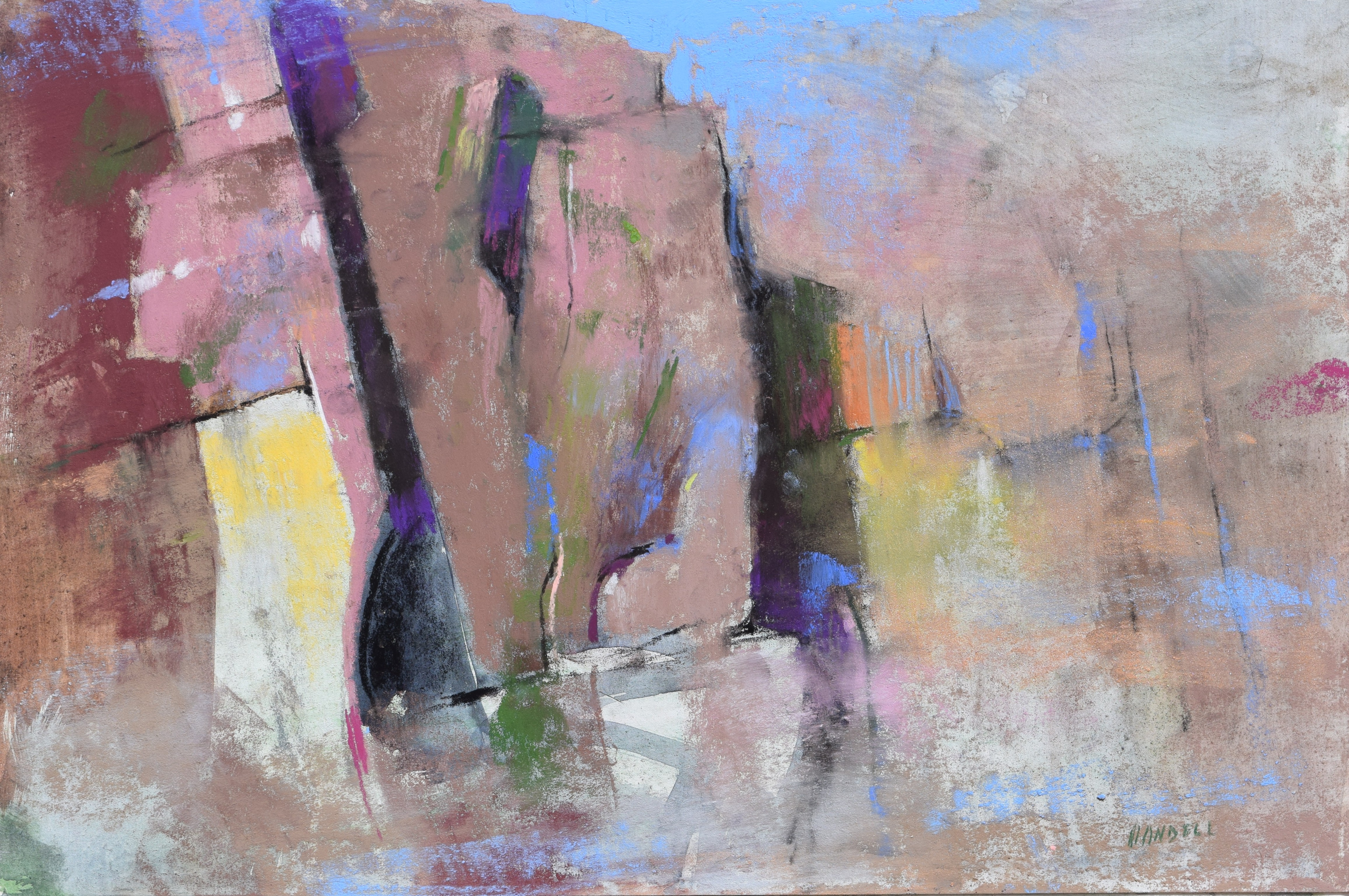 "Artist Interview Videos: Albert Handell, ""Morning Mist - Taos Valley, mixed media pastel, 12 x 18 in"