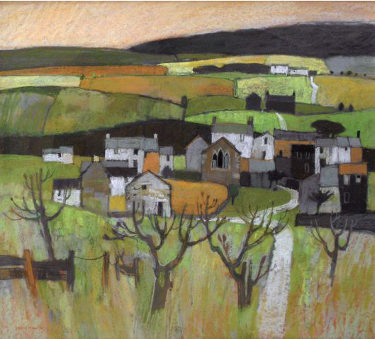 "Moira Huntley, ""Towards Keld, Yorkshire,"" pastel on board, 22 x 24 in"