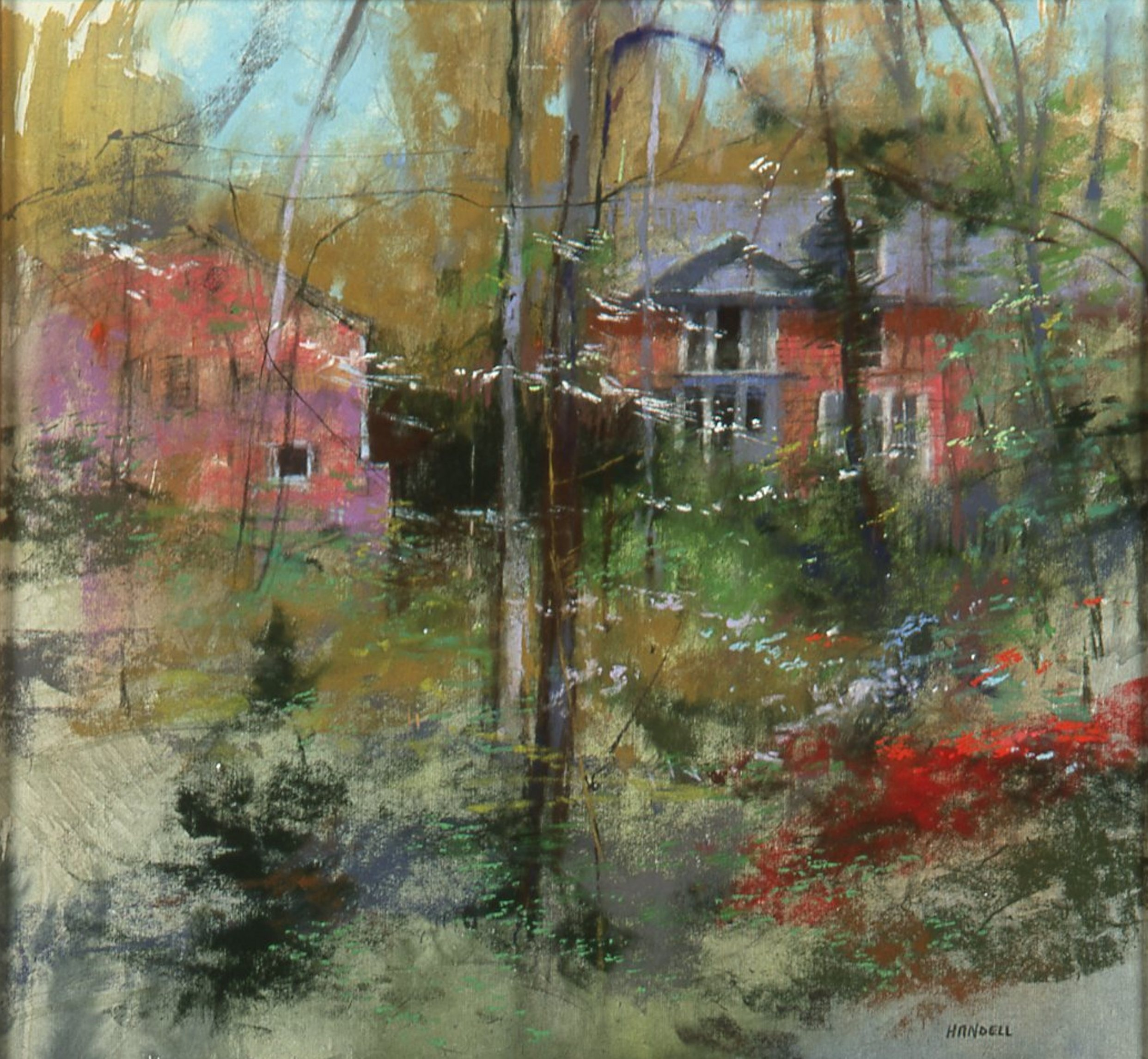 "Artist Interview Videos: Albert Handell, ""View wth in Fisher Park,"" pastel, 17 x 16 in"