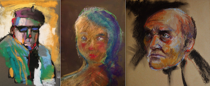 10-minute painting - Portraits by (from left to right): Casey Klahn, Gina Carstens, Lynn Howarth