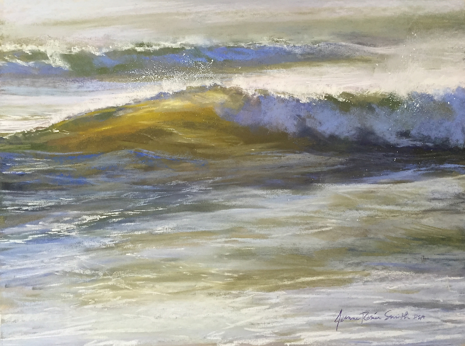 "Jeanne Rosier Smith, ""The Coming Day,"" pastel, 18 x 24in. The misty overexposure of my reference photo gave me the chance to inject interpretive color into this moody piece."