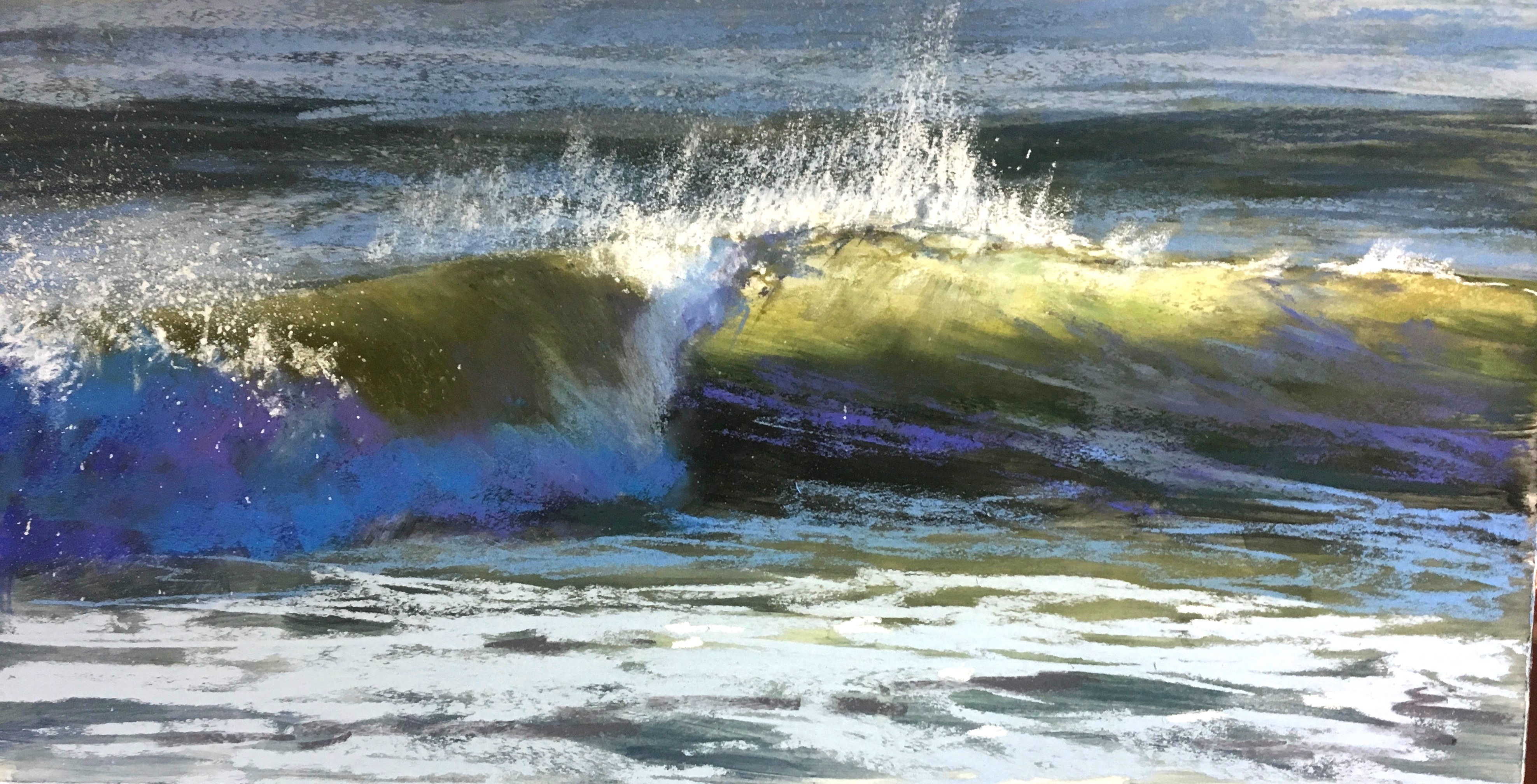 "Jeanne Rosier Smith, ""Alight,"" pastel, 10 x 20in , sold. This painting was done as a demo for an opening at Cecil Byrne Gallery in Charleston last spring."