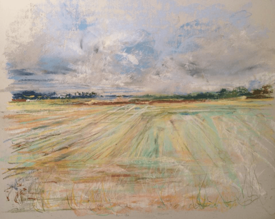 "June's Unique Pastels: Mark Fitzgerald, ""North Norfolk, North Walsham,"" pastel, 11 7/8 x 15 3/4 in (30 x 40 cm)"