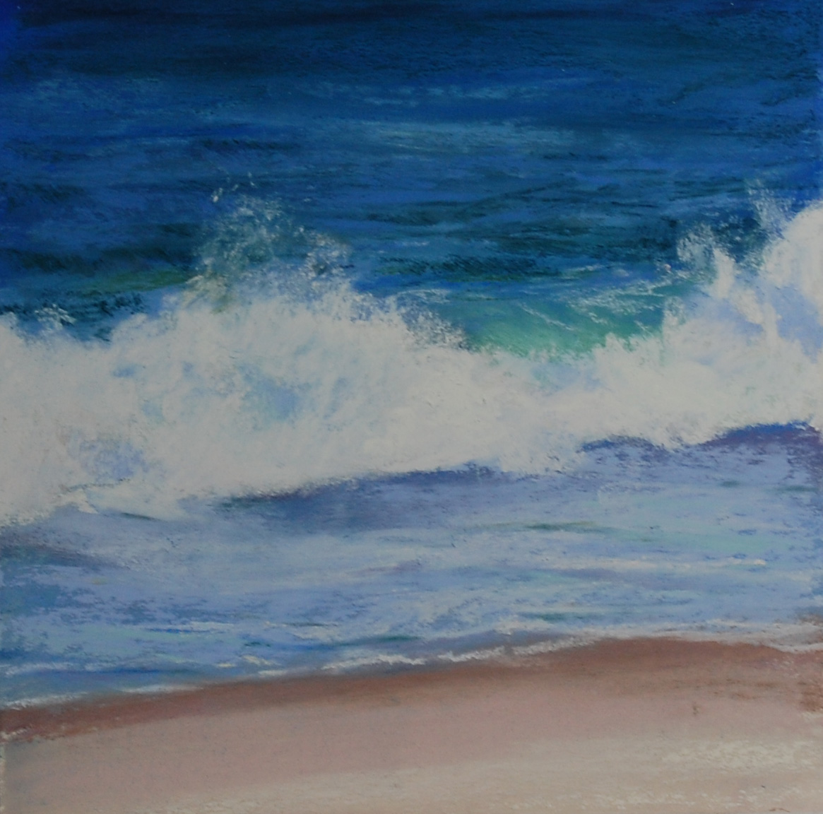 "Jeanne Rosier Smith, ""Wave III,"" pastel, 8 x 8in pastel, sold. This was one of the original three demo paintings I did that started the whole wave series nine years ago."