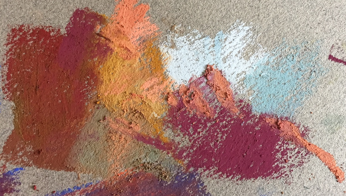 10-minute painting: Various colours tried and selected. Can you see I also tried out 'the hand'?