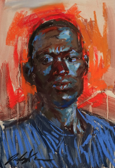 "July's Uncommon Pastel Paintings: Jz Xu, ""My African Friend,"" pastel on paper, 18 x 12 in"