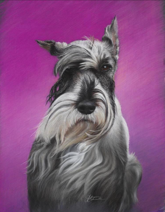 "July's Uncommon Pastel Paintings: Michelle Bonneville, ""Ghemma,"" pastels on La Carte paper, 25 x 19 in"
