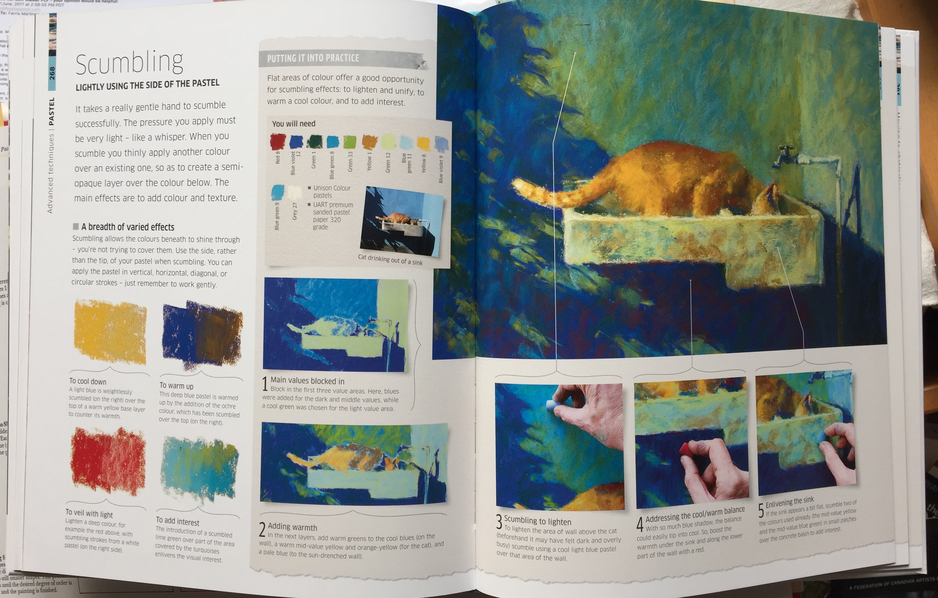 'Stumbling' spread for DK's Artist's Drawing Techniques.