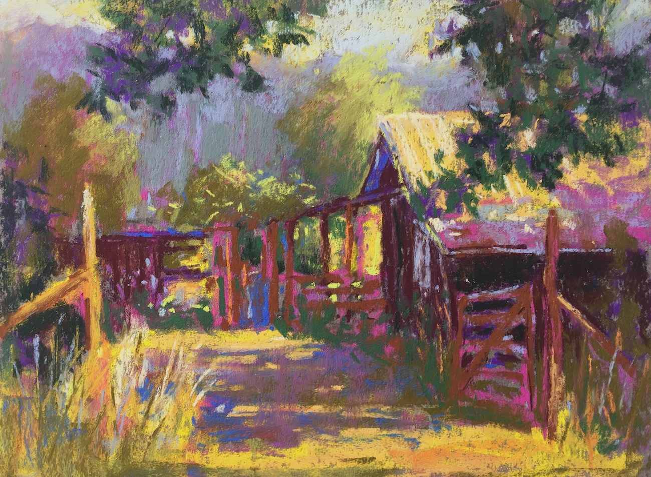 Tweaking a plein air painting in the studio: More definition and detail. At this stage I find myself picking away at the piece and I know it's time to stop! I know I will review it in the studio and can tweak the painting there.
