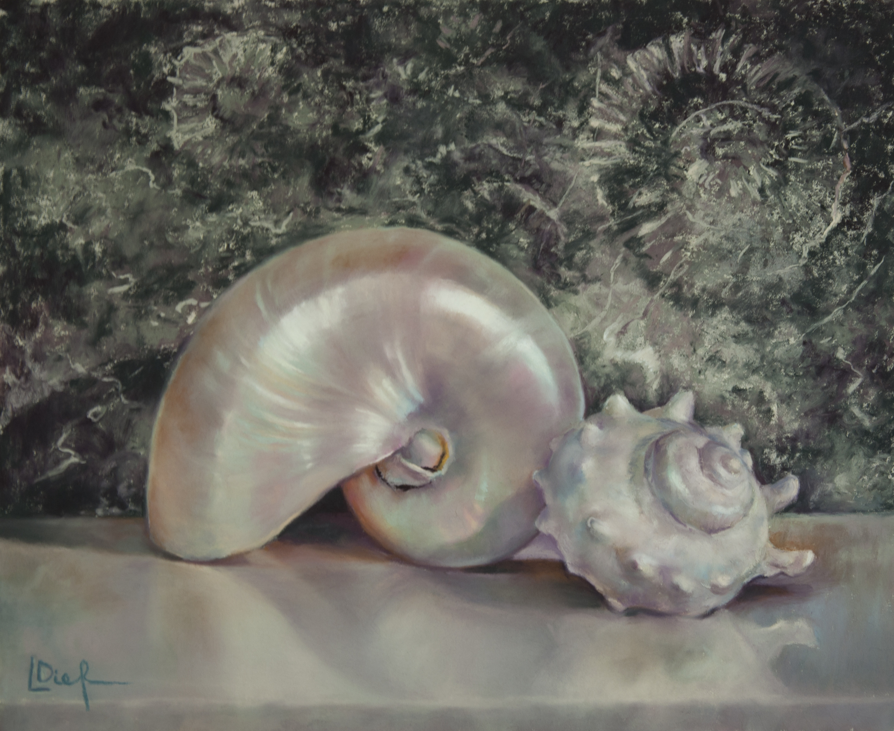 """Lyn Diefenbach, """"Like a Circle, Like a Spiral,"""" Dec 2016, Pastel on Fisher 400, 12.75 x 15.5 in. Sold."""