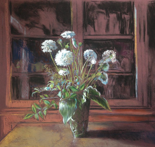 """October's outstanding pastels: Charlie Pate, """"Queen Anne's Lace,"""" pastel, 18 x 24 in"""