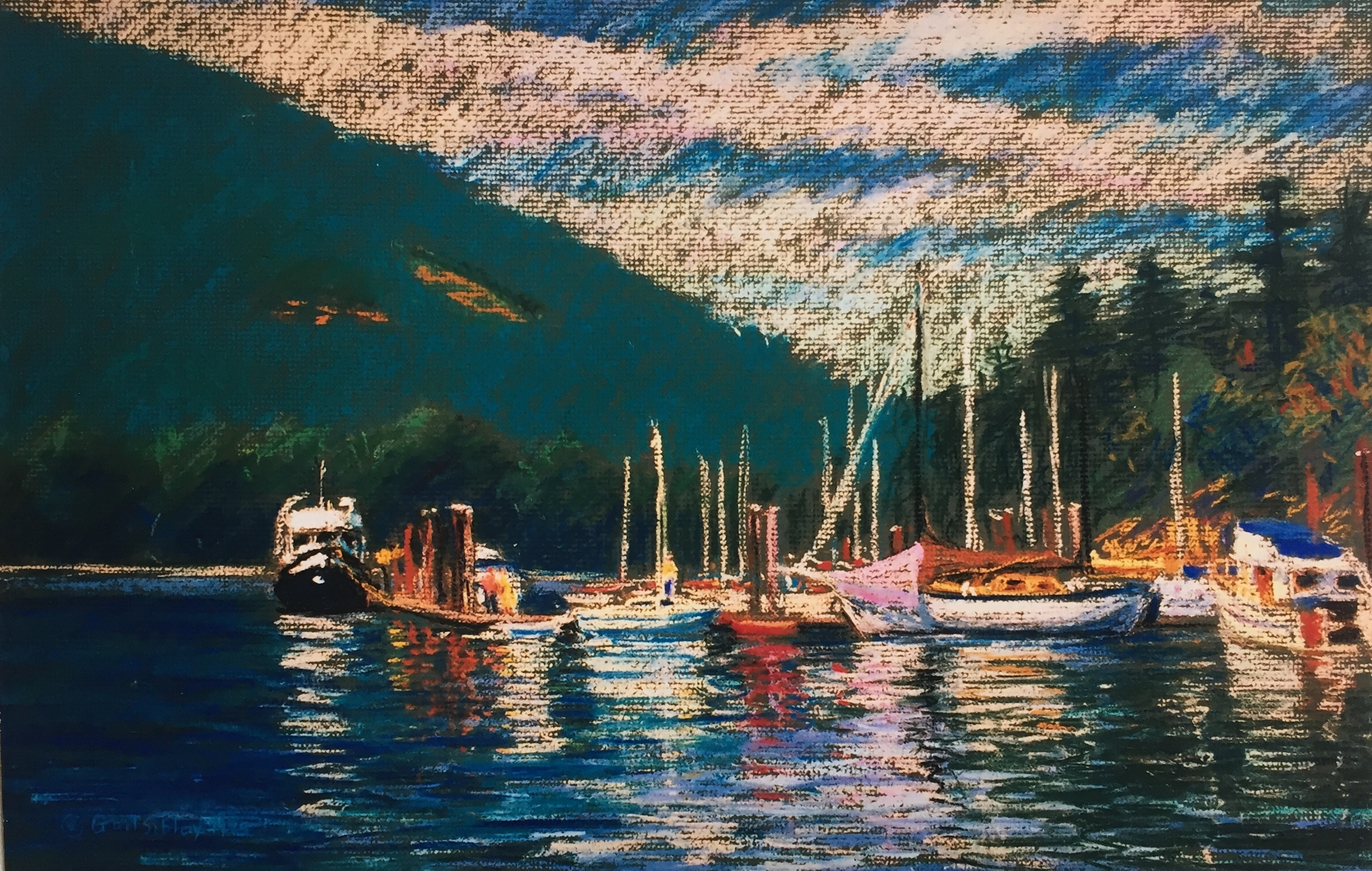 Finding your style: Gail Sibley, Fulford Harbour, c.1995, pastel on mat board, size unknown