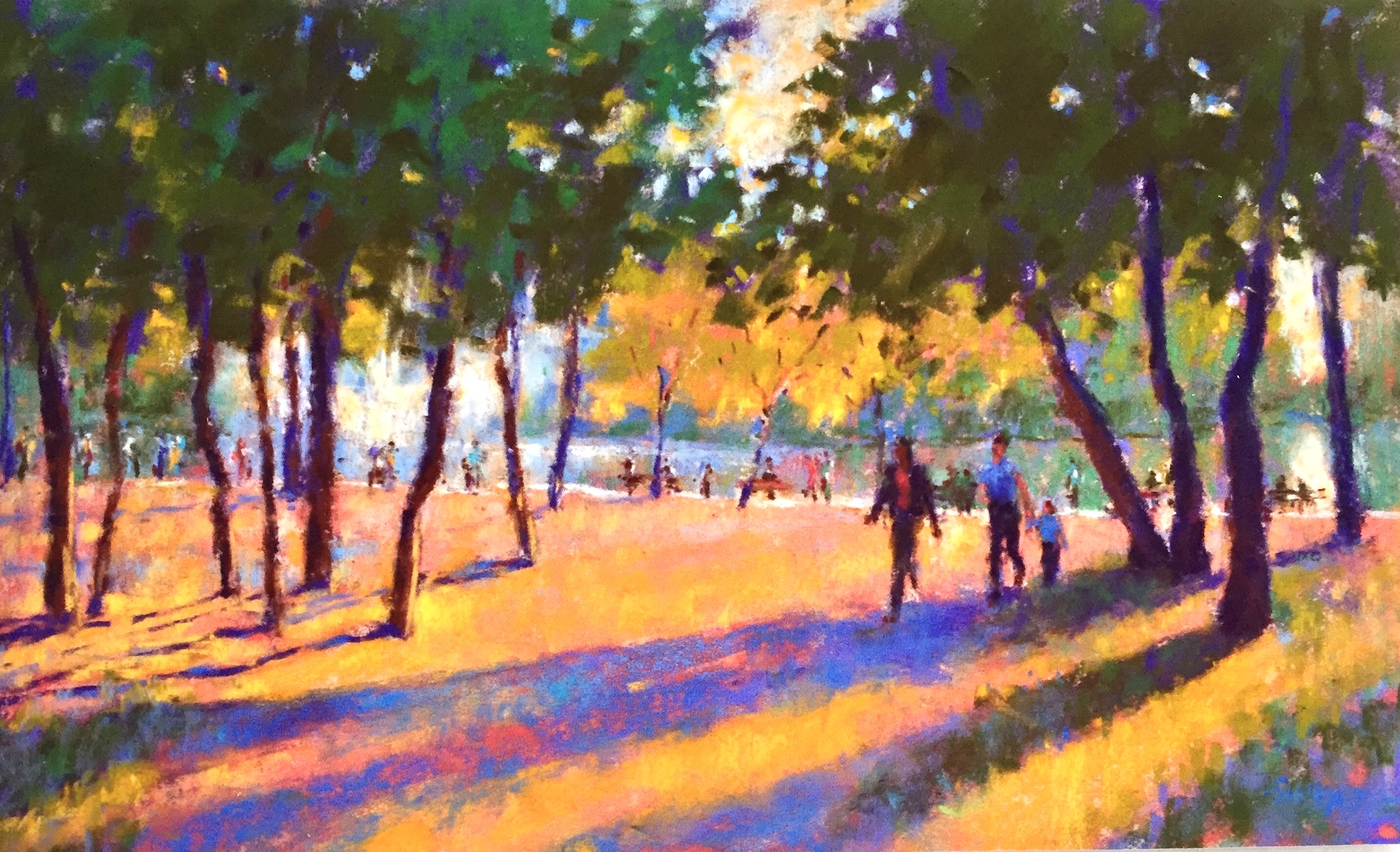 """Finding Your Style: Gail Sibley, """"Summer Evening in Budapest,"""" Unison pastels on UART 320 paper"""