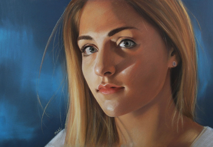 """October's outstanding pastels: Justin Maas, """"I've Just Seen a Face,"""" pastel on paper, 12 x 17 in"""