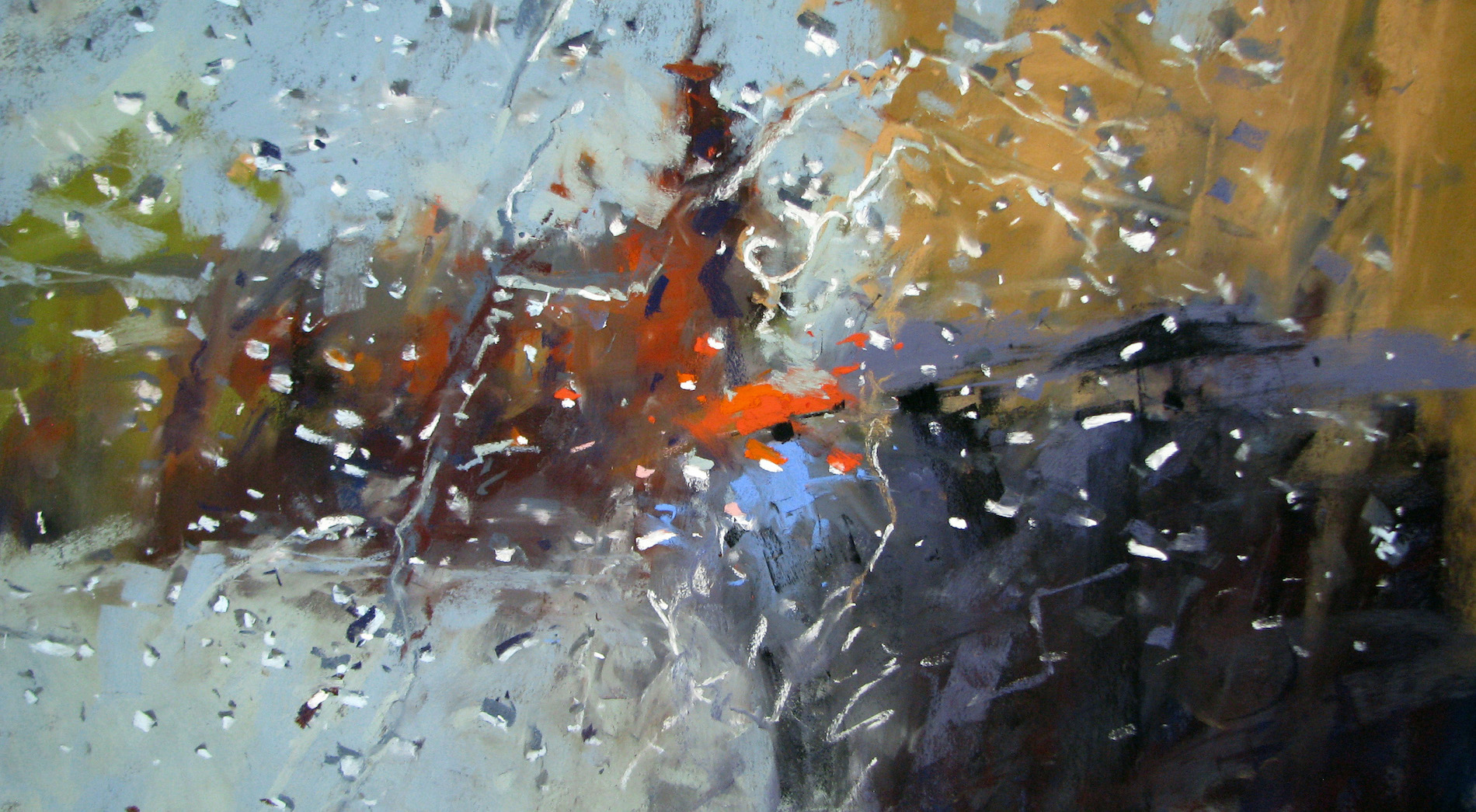 "Tony Allain, ""Rain,"" 2012, pastel on Pastel Premier paper, 14 x 10 in"