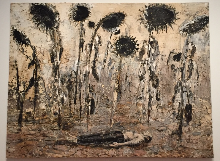 "Grief and Art: Anselm Kiefer, ""Die Orden der Nacht (Orders of the Night),"" 1996, acrylic, emulsion, and shellac on canvas, 140 x 182 1/4 in, Seattle Art Museum"