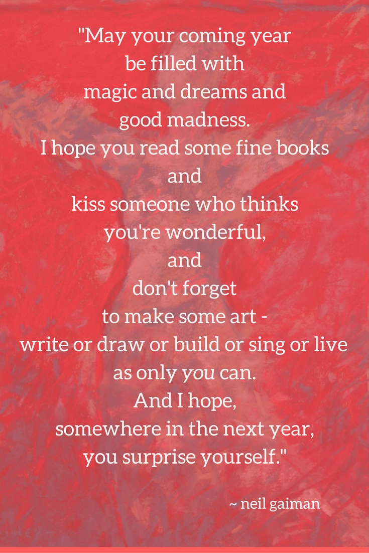 New Year Resolutions: Neil Gaiman quote