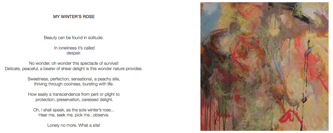 """Marcia Holmes, """"Sunny Side Rose,"""" in poetry booklet with poem"""