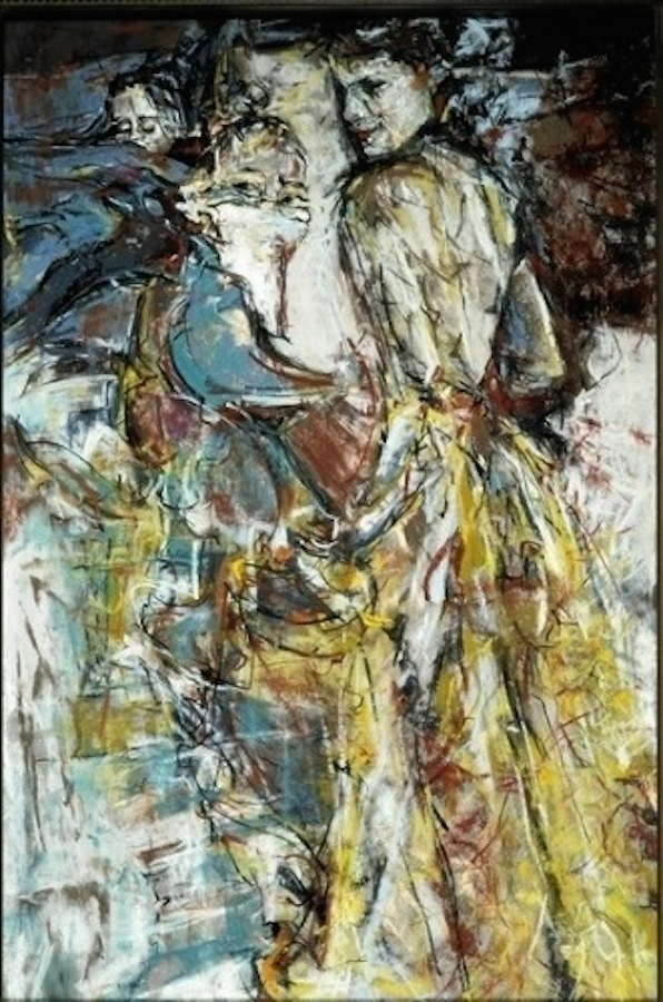 """Marcia Holmes, """"Mum's Night Out,"""" 2002, pastel, 18 x 12 in."""
