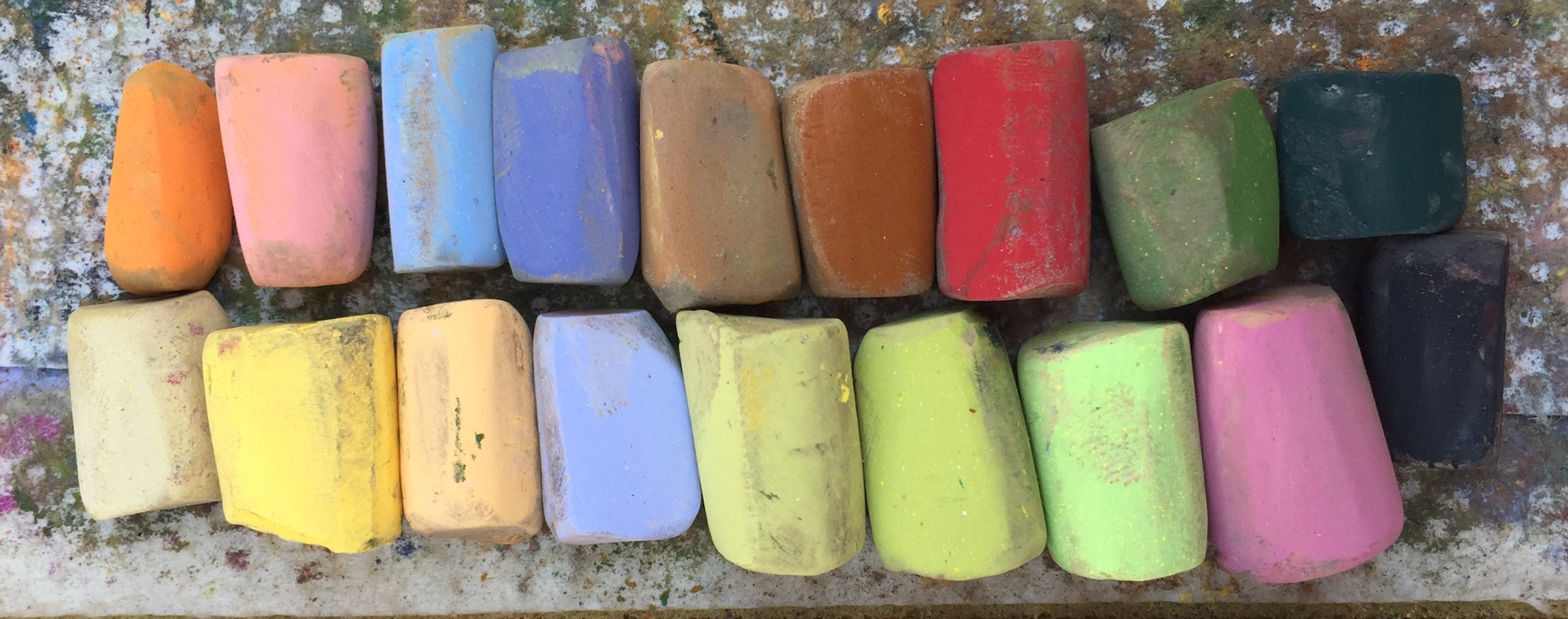 Change Things Up: The 18 Unison pastels I used. Quite a few for me!! That's because I have a larger selection to choose from than my usual limited palette starter sets!